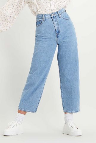 lichte balloon leg jeans met high waist 85314-0008