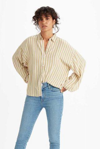 oversized viscose blouse met streep dessin margot 85382-0000