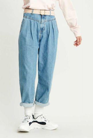 lichte denim balloon leg jeans met high waist 85787-0000