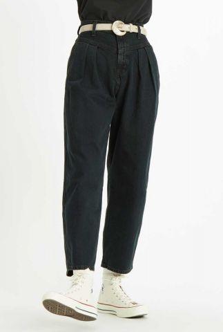 donkere high-waist denim balloon jeans 85787-0001