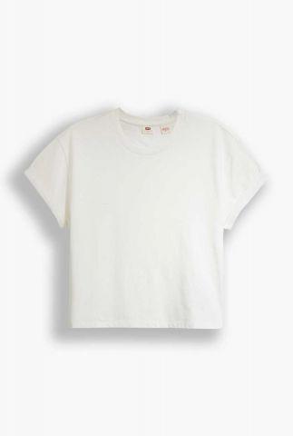 witte top met semi-transparante achterkant lola top 86881-0001