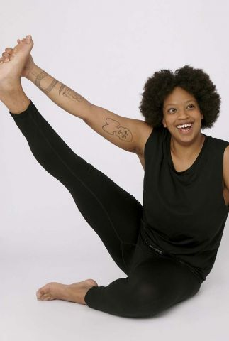 duurzame zwarte sportlegging active leggings