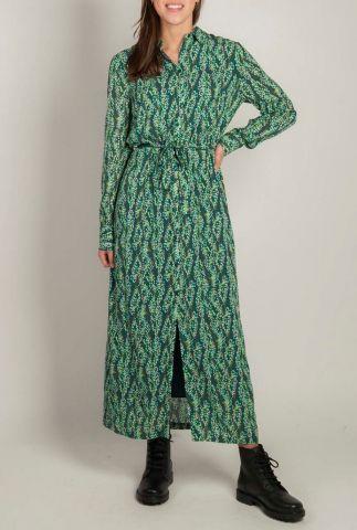 groene maxi jurk met ceintuur adeleide dress