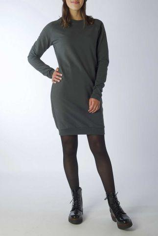 donker groene sweat jurk met ronde hals adult dress ruth