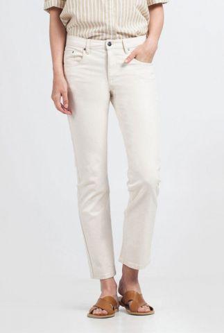 off-white katoenen jeans met rechte broekspijpen lilias GP0129