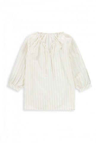 off-white top met goudkleurige strepen dessin lana it0127