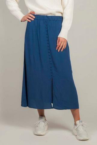 viscose midi rok met knoop details alexandra skirt