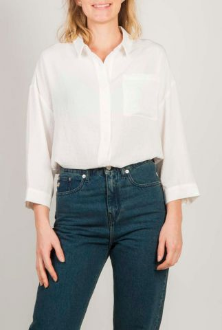 oversized witte blouse met 3/4 mouw alexis shirt