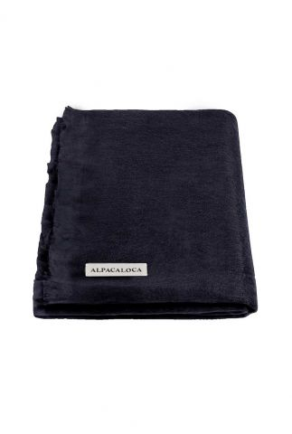 donker blauwe sjaal van zachte alpaca wol mix dark blue scarf