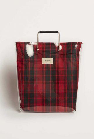 doorzichtige shopper tas met ruiten dessin alter c0967