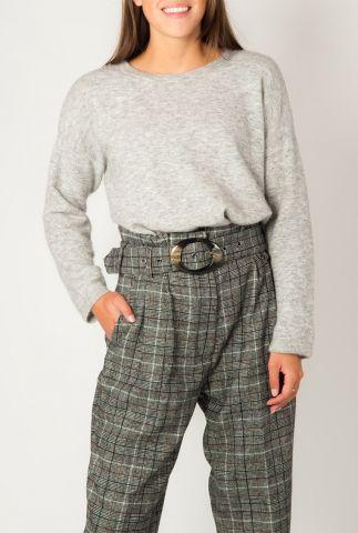 fijn gebreide grijze trui van mohair mix  amalia