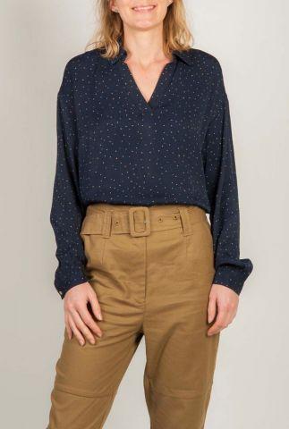 viscose top met fijne stippen print anastacia print shirt