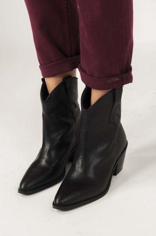 zwarte leren laarzen annie cowboy boot 16069941