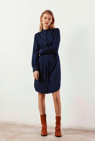 midi blouse jurk met ceintuur dalyce dress