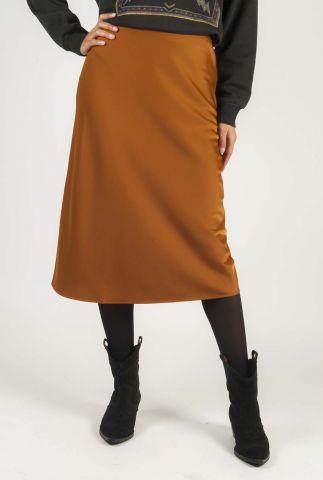 a-lijn midi rok met zijde look arleen skirt