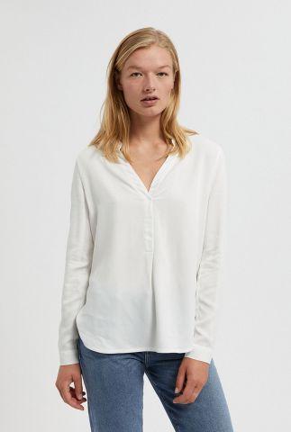 viscose blouse in off white met v-hals ceylaan 30002128
