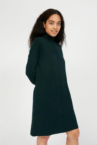 gebreide jurk van biologisch katoen met col kraag siennaa 30001626
