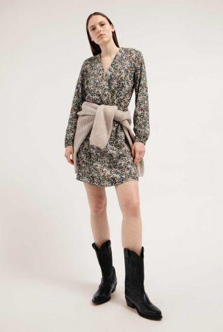 korte jurk met all-over dessin megaan heather 30002543