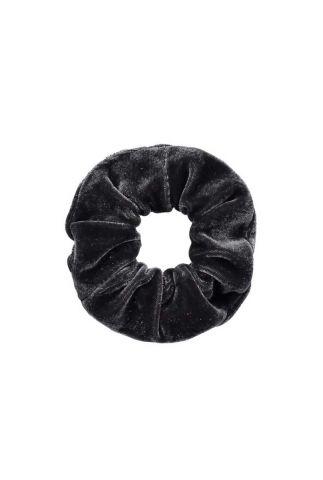 fluwelen scrunchie donker grijs romee-scrunchie