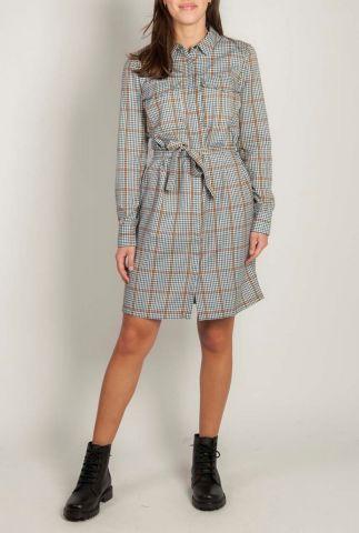 korte geruite jurk met ceintuur avelina dress