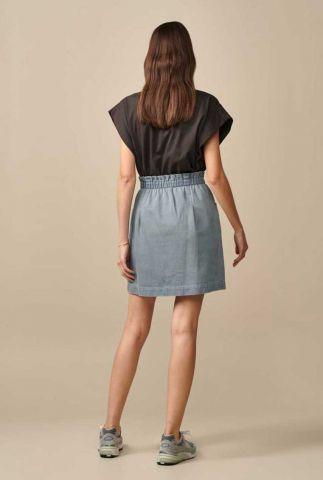 lichte denim rok met elastische tailleband avery11 d0382