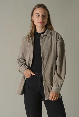 donker grijze oversized rib blouse baby corduroy blouse