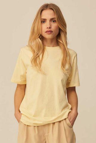 lichtgeel t-shirt van biologisch katoen Beeja