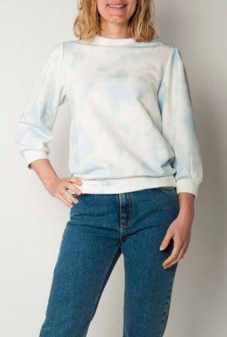 zachte blauw met witte sweater beha sweat