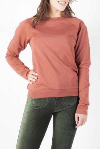 sweater met raglan mouwen en geborduurd logo adult sweater bibi