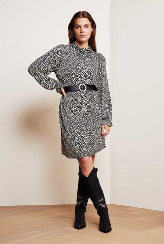 soepel vallende jurk met ceintuur Billy Dress