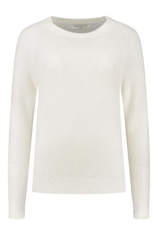off white trui met ronde hals birdie knit w20.75.1791