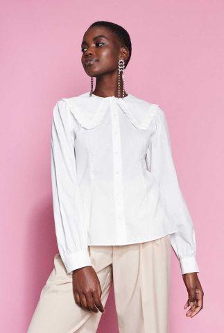 klassieke witte blouse met grote kraag en ruches bl mary
