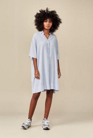 oversized blauw wit gestreepte jurk atelier11 s0871