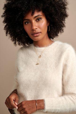 zachte crème kleurige trui van wol mix datti k1014