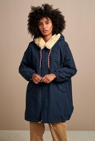 parka jas met oversized pasvorm en faux fur voering laos f02 p1133