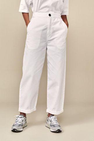 witte high waist broek met steekzakken pasop pants p1267
