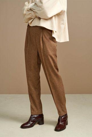 klassieke broek van een zachte wolmix met straight fit vassily f1880