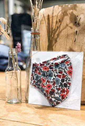 bloemen mondkapje liberty londen fabric poppy and daisy