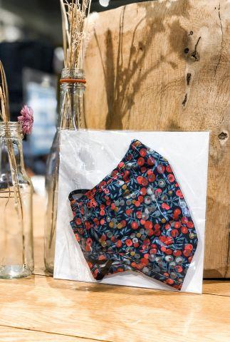 mondkapje met dessin liberty londen fabric wiltshire strawberry