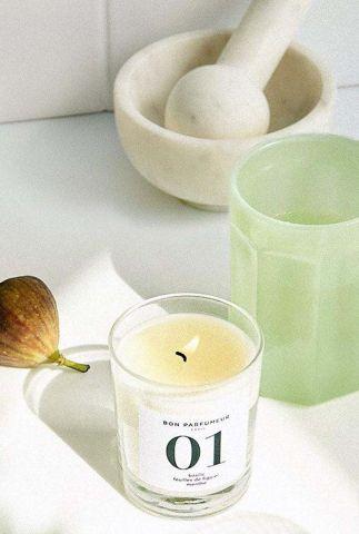 geurkaars munt, vijgenblad en basilicum candle 01