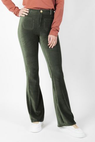donker groene corduroy flared broek adult flared pants bonnie
