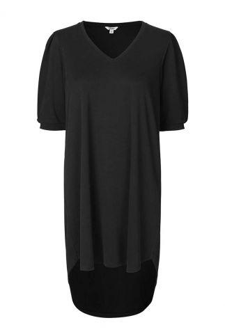zwarte basic jurk met korte mouw Farrana bosko