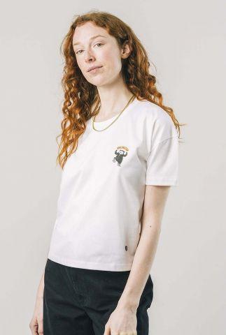 wit t-shirt met ronde hals en korte mouwen hibernation regular 1313