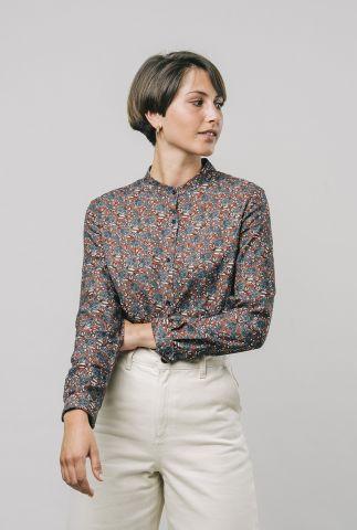 rode blouse met bloemenprint paw paw printed blouse 1119