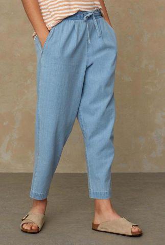 lichte denim broek met elastische tailleband lourdes K210100021