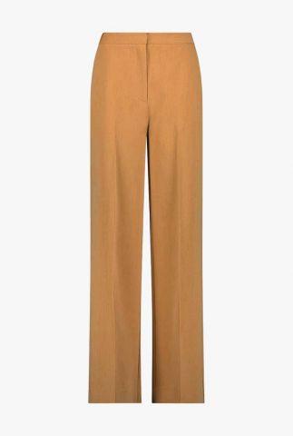 lichtbruine broek met wijde broekspijpen moore pants
