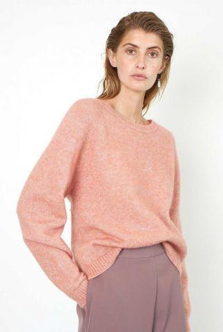 oranje/roze gemêleerde trui brook knit new loose o-neck