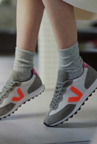 grijze sneakers rio branco hexa gravel orange  rbw011988
