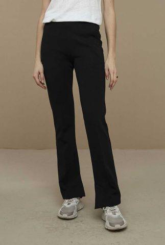 zwarte stretch flared broek met steekzakken lowie pant