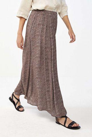 bruine maxi rok met stippen dessin lien manilla skirt
